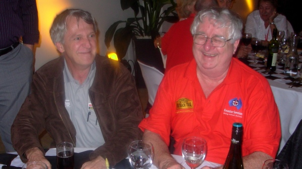 Gary Searle and Tom enjoying a moment at a COT presentation