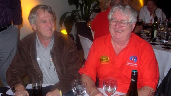 Gary Searle and Tom enjoying a moment at a COT presentation