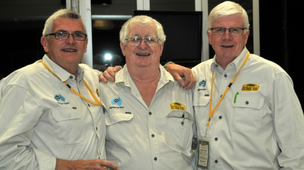 Tom and the team, Steve, Tom and Philip, enjoying the presentation at COT 2014 in Renmark.