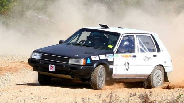 Cody Passlow and Caroline competing in the NSW Rally Championiship.