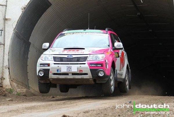 Evan and Caroline will be running the ex-Brett Middleton Subaru Forester.