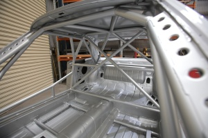 The roll cage is a work of art