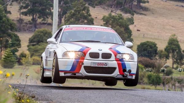 Adam Kaplan in Targa Tasmania in a BMW