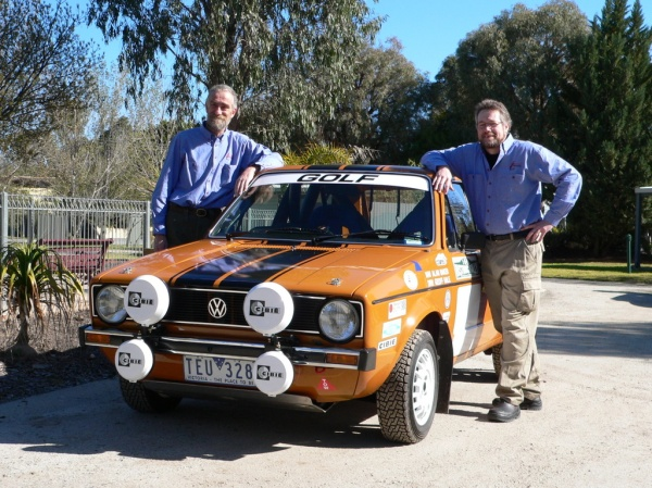 Geoff and Alan - and Geoff's Golf.