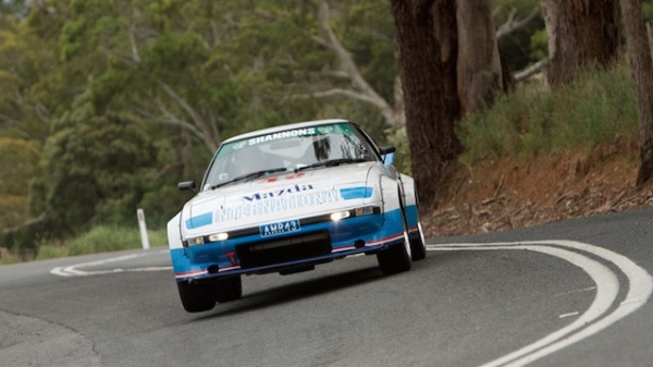 Adam and Mary in the RX7 in Classic Adelaide