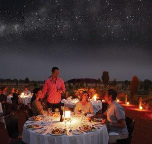 Dine under the stars...