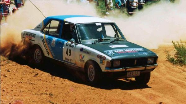 Joel in the 1987 Alpine Rally