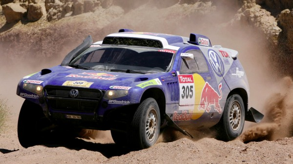 A picture of a rally touareg