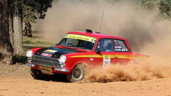 Ted and Joel on SS1 of COT 2014, Back Yamma.  Chris Brown pic.