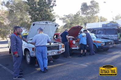 (L-R) John Henderson/Jeff West - Volvo 144, Jo Worth/Heather Worth - Volvo Amazon 122S, Ian Swan/Val Swan - Volvo 242