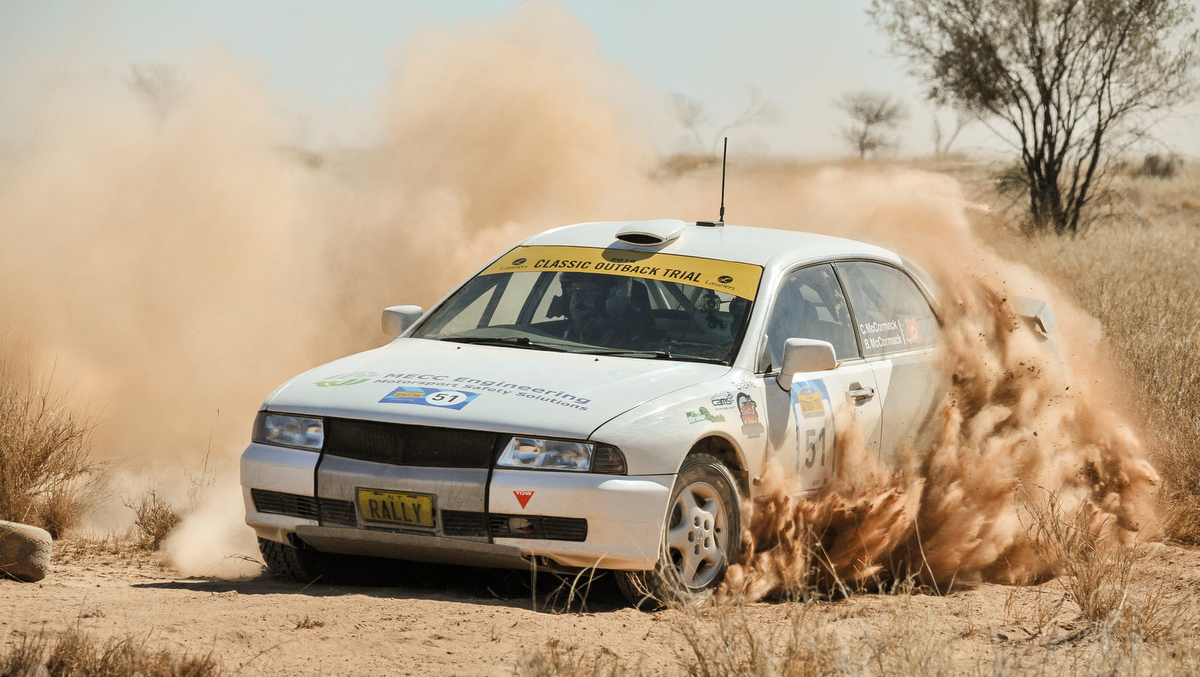 Mitsubishi Magna competing in COT Modern in 2018.