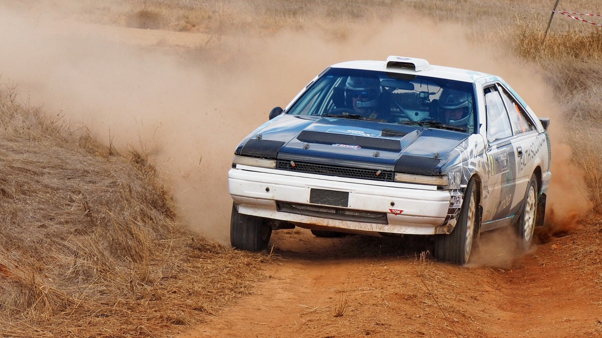 Andrew and David Travis competing in Rally of the Heartland.